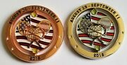 2 Coin Lot Nypd New York Queens North 2016 Us Open Detail Spinner Challenge Coin