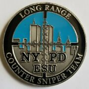 Genuine Nypd Esu Long Range Counter Sniper Team Cst Challenge Coin Police