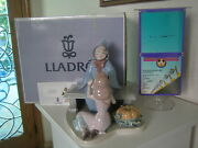 Lladro Disney Figurine 7553 Cinderella And Fairy Godmother Limited Ed. With Box