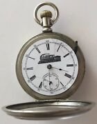 Antique Double Hunter Pocket Watch Locomotive Special Chicago 17 Jewels