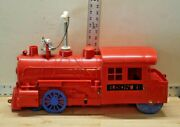 Vintage Eldon Rr Locomotive Ride On Toy Train With Working Bell