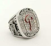 New Philadelphia Phillies World Series Menand039s Ring 2008 925 Sterling Silver