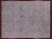 9and039 0 X 12and039 3 Hand Knotted Vintage White Wash Wool Rug - Q2589