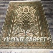 Yilong 4and039x6and039 300lines Handmade Rugs Tree Of Life Hand Knotted Silk Carpets L129a