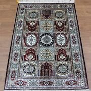 Yilong 2.5and039x4and039 Hand Knotted Classic Silk Carpets Handmade Four Seasons Rugs 401b
