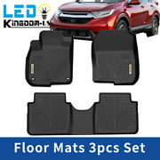 For 2017-2021 Honda Cr-v Crv Floor Mats Liners 1st And 2nd Row All Weather Black