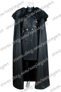 Game Of Thrones Cosplay Jon Snow Costume Black Cloak Outfits Full Set Cool