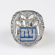 New York Giants Super Bowl Menand039s Ring In Pure 925 Sterling Silver