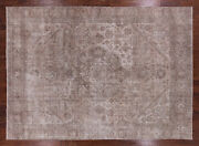 9and039 2 X 12and039 7 Handmade Vintage White Wash Area Rug - Q2606