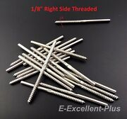 T316 Stainless Steel Swage Lag Screw Stud Right Threaded For 1/8 Cable Railing
