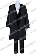 Doctor Who Cosplay 3rd Dr. Jon Pertwee Costume Black Cape Outfit Full Set