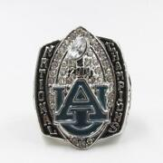 Auburn Tigers College 2010 Football National Championship Menand039s Silver Ring