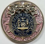 Nypd Chief Of Patrol Terence A Monahan Pink Challenge Coin