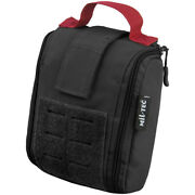 Mil-tec Individual First Aid Kit Pouch Laser Cut Utility Carrier Molle Black