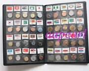 60 Countries Regions Coins With Flag Real Coins Money Collections Book Album