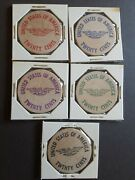 Five Vintage Wooden Nickels Allentown 1969 United States Of America 20 Cents P1