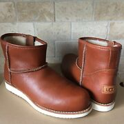Ugg Bowden 1978 Collection Leather Natural Winter Classic Boots Size Us 11 Mens