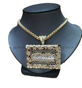 10k Yellow Gold Last Supper Pendant Byzantine 30chain Mens Necklace