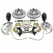 1964 1972 Chevelle Front Disc Brake Conversion Kit 2 Drop Ss Braided Hoses Gm