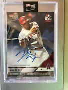Mike Trout 2018 Asg Auto Card- Rare Ssp /49 Only One On Ebay Perennial All Star