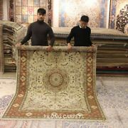 Clearance Yilong 6and039x9and039 Classic Wool Silk Area Rug Floral Handwoven Carpet 1461