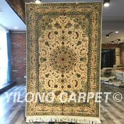Clearance Yilong 4and039x6and039 Handmade Wool Silk Rug Home Blanket Woollen Carpet 2050