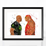 Wwe Print Watercolor Poster Wall Art Framed Canvas Gift Idea