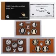 2012 U.s. 14 Coin Proof Set With Original Government Packaging, Lot Of 7 Sets