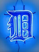 Detroit Tigers Beer Light Lamp Neon Sign 20 With Hd Vivid Printing