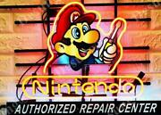 Nintendo Authorized Repair Center Beer Lamp Neon Sign 24 With Hd Vivid Printing