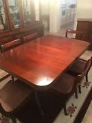 Vintage 1950and039s Brickwede And039duncan Phyfeand039 Style Mahogany Dining Table And Drexel