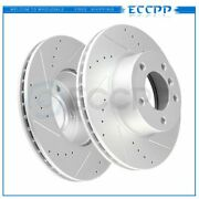 Front Discs Brake Rotors For Bmw 128i 2008 2009 2010- 2013 Drilled And Slotted