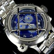 Russian Diver Nautilus Caged Swiss Mvt Steel Blue 52mm Chrono Watch New