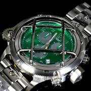Russian Diver Nautilus Caged Swiss Mvt Steel Green 52mm Chrono Watch New