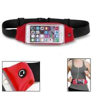 Red Sports Workout Belt Waist Bag Case Gym Cover Pouch Z5s For Smartphones