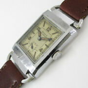Doxa Rectangular Case Manual Winding Vintage Menand039s Watch 1930and039s Overhauled