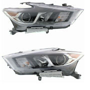 For 16-18 Maxima S/sl/sv Front Headlight Headlamp Halogen Head Light Set Pair