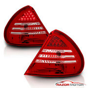 1999-2002 Mitsubishi Mirage De/ls/es 2/4dr Red Clear Led Tail Lights Lamps Pair