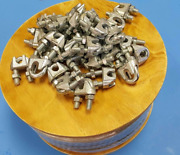 Hot Dipped Steel Galvanized Aircraft Cable Wire Rope Steel Cable W/ Cable Clamps