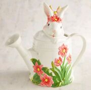 Pier 1 Bunny Garden Easter Spring Pitcher Watering Can New