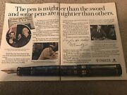 Vintage Parker Pens In U.s. History Print Ad Parker 51 Duofold Roller Ball Rare