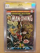 Adventure Into Fear 18 Man-thing Cgc 9.2 Ss Stan Lee Ow-w