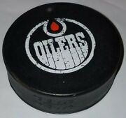 1970s Wha Edmonton Oilers Hockey Old Official Game Puck Biltrite Canada Big Hole