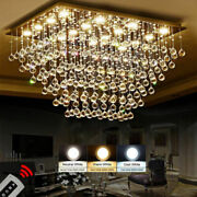 Curtain Light Dimmer Led Crystal Living Room Pendent Lamps Hanging Ceiling Light