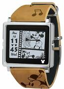 New Watches Smart Canvas Vintage Series Brown Watch Dy1011 Disney Mickey Mouse