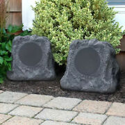 Inn-itsbo-513p5 Bluetooth Outdoor Rock Speakers Pair By Innovative Technology