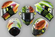 Limited Edition Mugello Italy Tricolore Motorcycle Race Crash Helmet Rossi Vr46