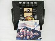 Grillpro Porcelain Coated Pro Grill Top Wok With Pan Cookbook 12x12 98121 New