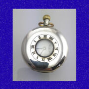 Vintage And Retro Silver And Gold Swiss 15 Jewel Half Hunter Xmas Pocket Watch 1919