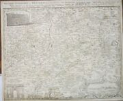 Antique Map Of Germany 1746 Hassiae Superioris Et Wetterau Colored Lines Giessen